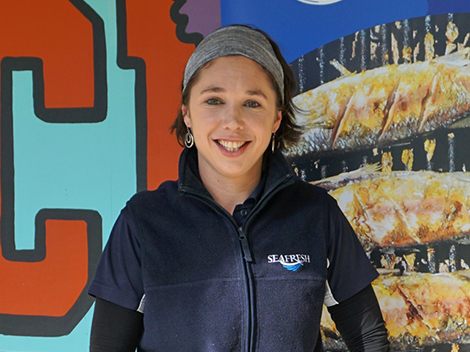 Introducing Lucy Lynch the energetic, passionate and friendly manager from Seafresh Myaree fish market